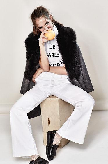 Zuzanna Bijoch Denim Shopbop will vendramini studio cool smile top knot hair make up color character