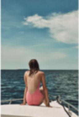 Megan Williams bikini at a boat