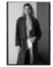 Bregje Heinen underwear and big long jacket