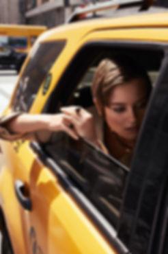 Jac Monika for Viva Moda in NYC, yellow cab by Will Vendramini