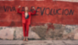 Viva La Revolucion - Will Vendramini - Elle magazine with brooke perry shot in Havana Cuba red suit