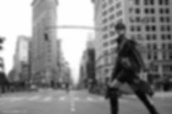 Jac Monika for Viva Moda in NYC, streets black and white by Will Vendramini