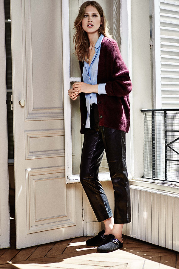 Laura Julie Iro Paris cozy apartment france sexy chic black and white gap