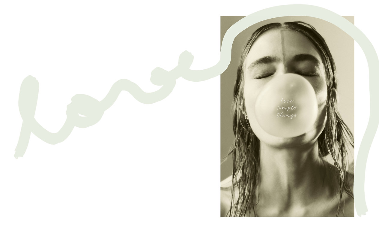 Anna Mila Gueynz - The Guide of Heart by Will Vendramini love simple things, bubble gum model