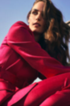 Intermix NYC fall 19 campaing Zuzanna Bijoch in Pink