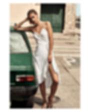 Megan Williams bikini campaign in cartagena city