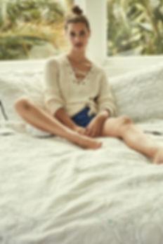 Lise Olsen Anthropologie Hawaii Swim beach bikini color hair make up