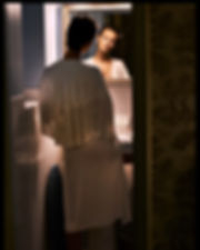 Jac Monika for Viva Moda in NYC, beauty in the mirror at chelsea hotel bathroom by Will Vendramini