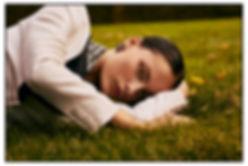 Costume Magazine - December 18 - Will Vendramini - Caroline Knudsen - laying on grass