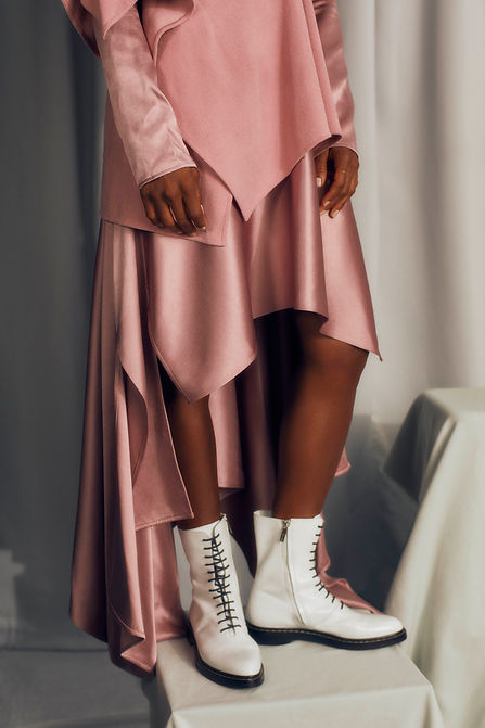 elle brazil elle brasil pink and white shoes cipriana quann