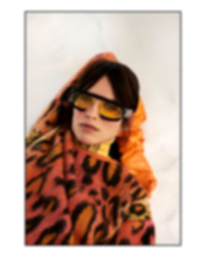 Amand Wellsh wearing Pucci in snow sunglasses campaing
