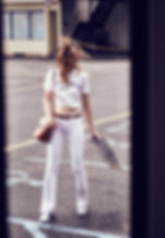Larissa Hofmann Road Trip Sexy denim motel travel car glass cool attitute hair make up