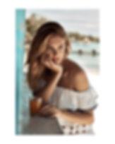 Megan Williams bikini campaign swim at the beach