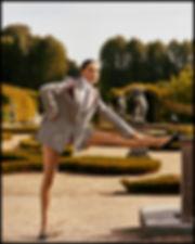 Costume Magazine - December 18 - Will Vendramini - Caroline Knudsen stretching