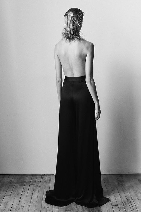 Emma Stern Nielsen cool editorial short hair open back
