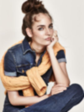 Zuzanna Bijoch Denim Shopbop will vendramini studio cool smile top knot hair make up color character