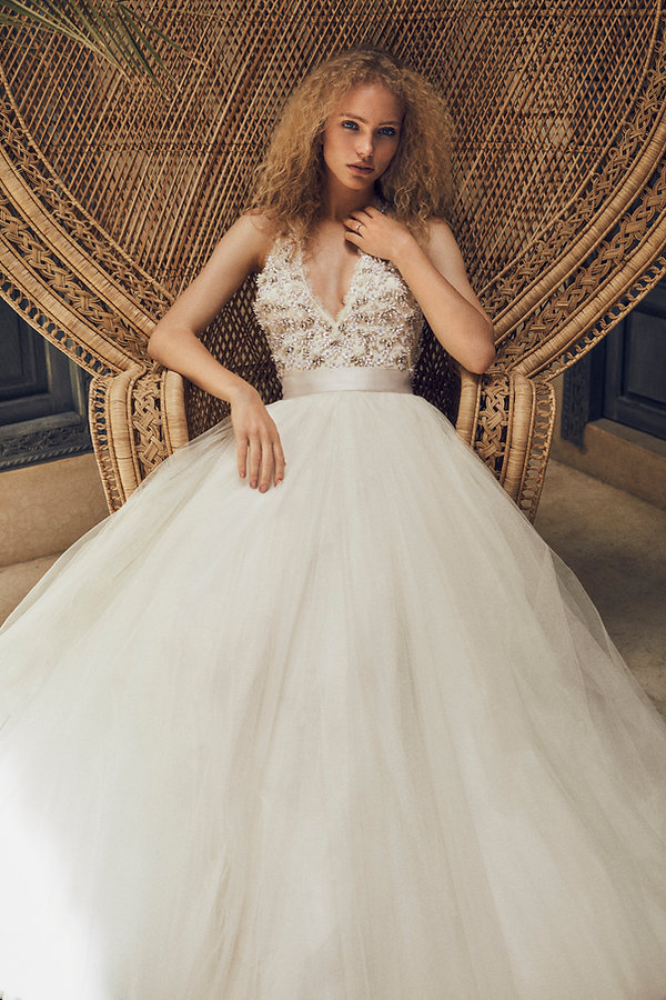 Bridal Wedding shoot in Morocco, Marakesh editorial for Jenny Packham classic peecock chair