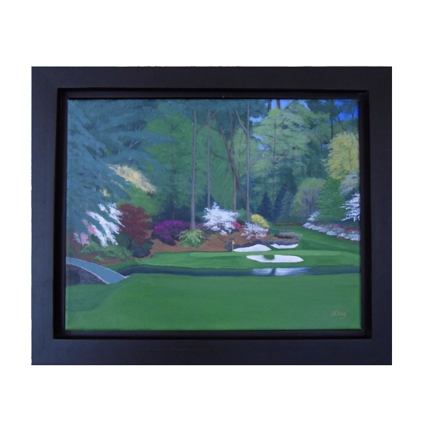 SOLD- The 12th Hole at Augusta National 16x20