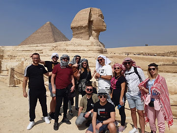 pyramids and sphinx with Egypt tours for