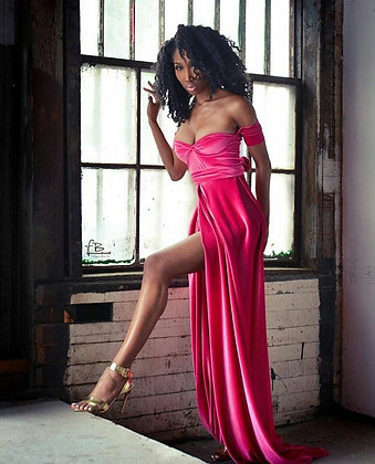 Pink Velour Gown