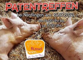 Patentreffen bei unseren Schweinen am 25.07.2020 ❤️