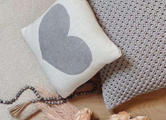 Crochet all day - Gray crochet pillow