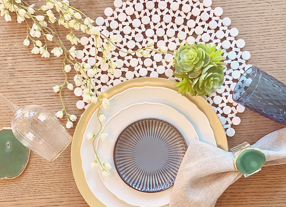 Bougie Boho - Wooden beaded placemat