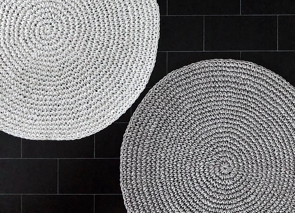 TAVÉ's-Knit-pick - Handmade placemat with lurex detailing