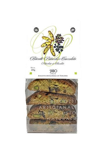 Biscotti pistacchi e cioccolato