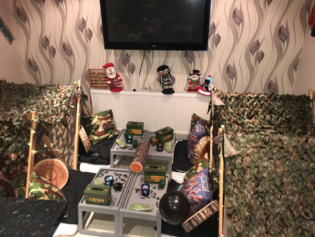 Army themed sleepover party coming to Colchester Essex branch soon😍