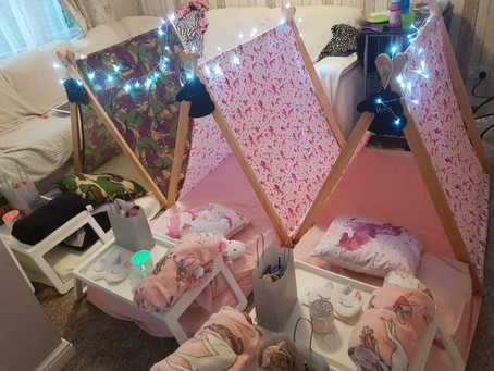 Unicorn and Army Tiny Tent party in Rickmansworth