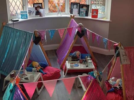 Mermaid Tiny Tents Sleepover Teepee Party