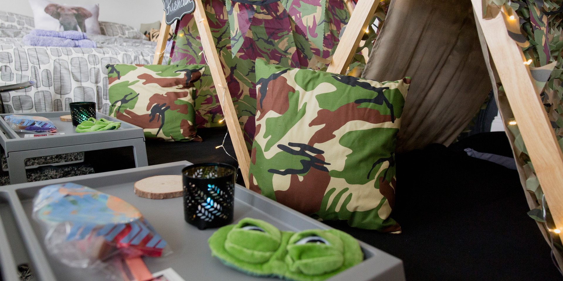 Army Sleepover Tent Theme