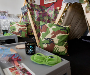 Army Sleepover Tent Theme