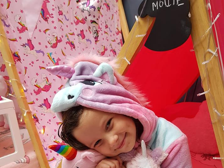Fab review from this cuties unicorn themedbirthday with us at Tiny Tents