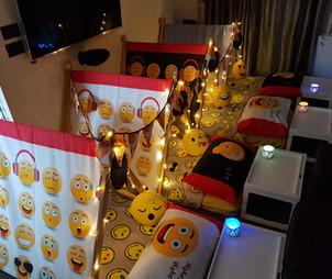 Emoji Sleepover tent theme
