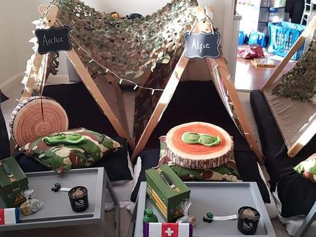 Army Fortnitesleepover Tiny Tents Party - Heathrow