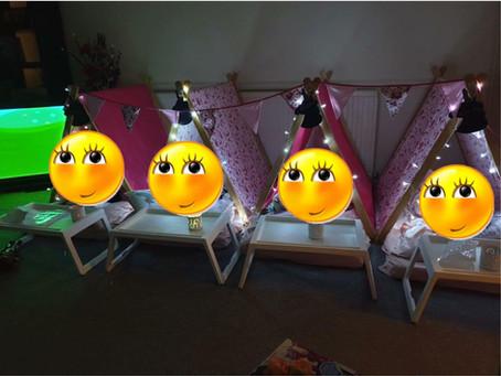 Still unicorn crazy! Teepee/Tent slumber party in Watford