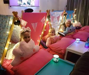 Rainbow Sleepover Tent Theme