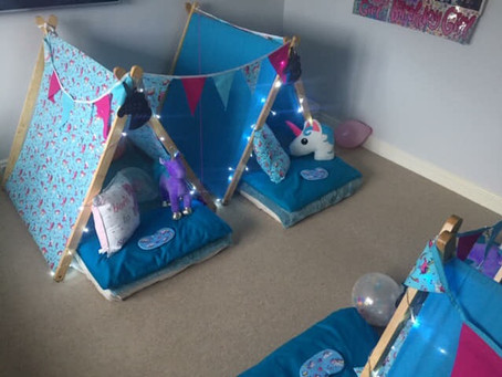 Blue unicorn slumber party in hayes