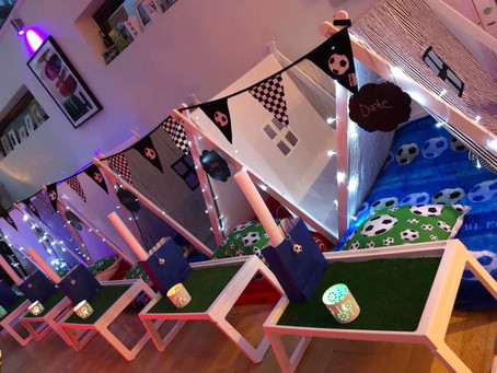 Football sleepover party in London, kent