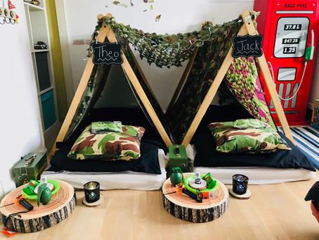 Army mad Tiny Tents