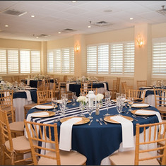 Navy and White Stripped Runner
