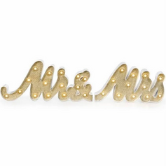 Gold Light Up Mr & Mrs