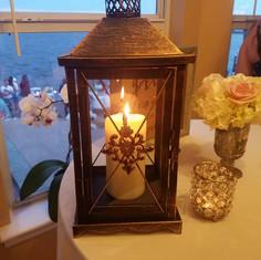 "Bronze 17"" Lantern"