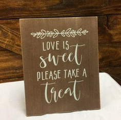 Love is Sweet (Wooden Sign)