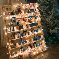 Wooden Pallet with lights