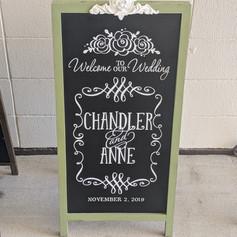 Tall Green Chalkboard