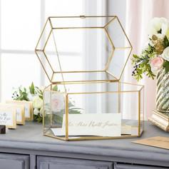 Clear/gold Card box