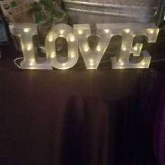 Small LOVE Marquee